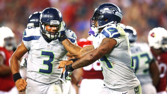 Russell Wilson and Marshawn Lynch