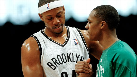Paul Pierce and Rajon Rondo