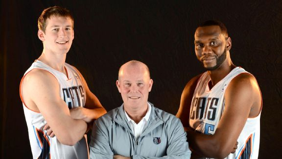 Cody Zeller, Steve Clifford and Al Jefferson