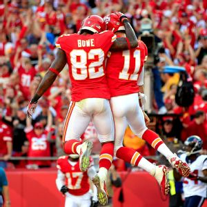 Dwayne Bowe and Alex Smith
