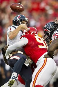 Tamba Hali forced Case Keenum into a fumble that sealed the win for the Chiefs.