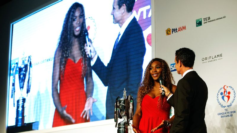 While obvious favorite Serena Williams hasnt won the title yet, she still looks like the queen of the ball at the draw ceremony.