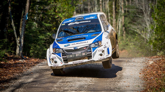 David Higgins claimed the grueling Rally America championship last weekend after his nearest competitor Ken Block crashed.