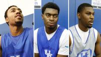 Patric Young, Dakari Johnson and Alex Poythress