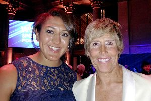 Elana Meyers was excited to meet Diana Nyad at the Women's Sports Foundation's Salute to Women in Sports.