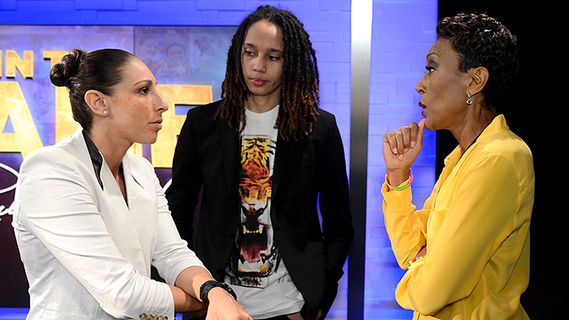 Phoenix Mercury superstars Brittney Griner and Diana Taurasi are inspiring others with their play and elevating the WNBA. But Griner talked about where she wants to make her biggest impact away from the court -- to stop bullying.