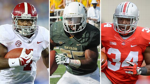 T.J. Yeldon, Lache Seastrunk and Carlos Hyde