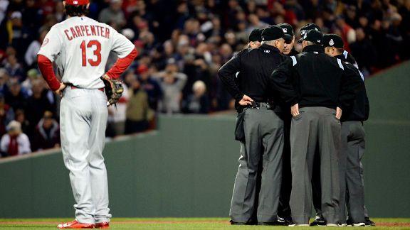 Matt Carpenter, umpires