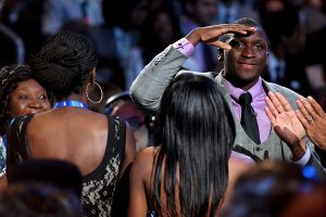 Oladipo returned a salute to his hoops-averse father moments after being drafted by the Orlando Magic.