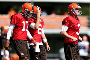 Jason Campbell, Brian Hoyer and Brandon Weeden