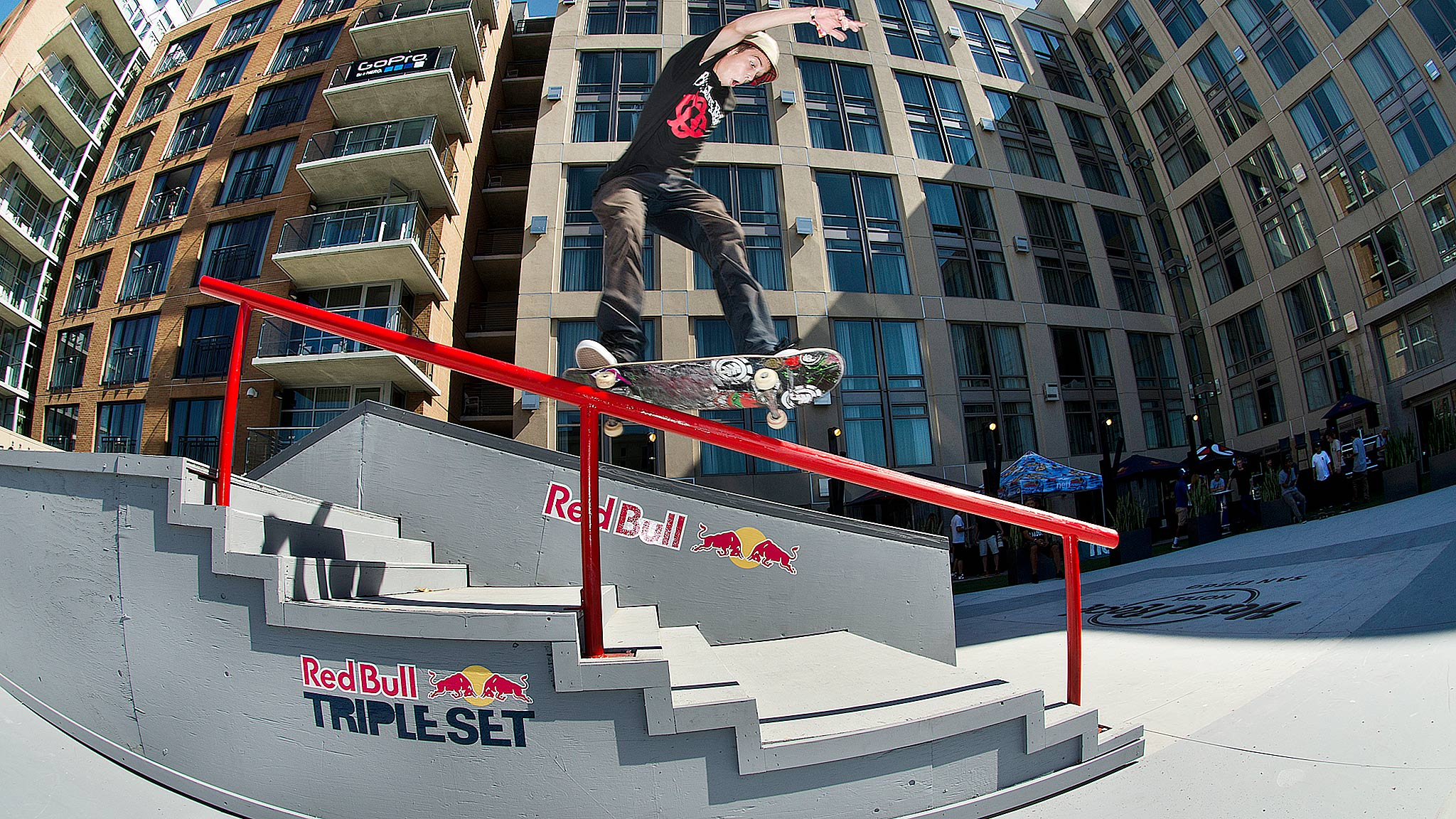 Red Bull Skateboarding Wallpaper Red Bull's Triple Set Skate
