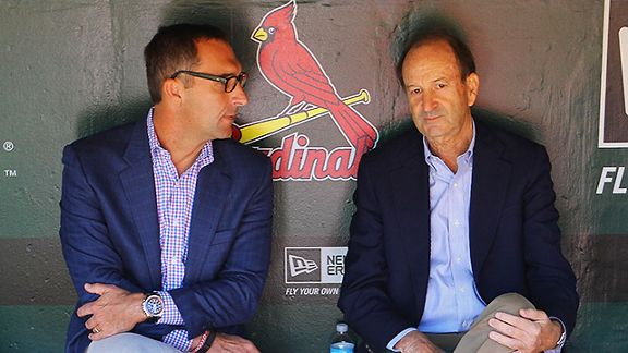 St. Louis Cardinals general manager John Mozeliak and Bill DeWitt, Jr.