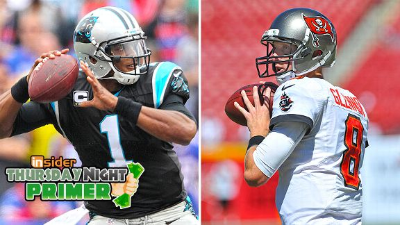 Cam Newton and Mike Glennon