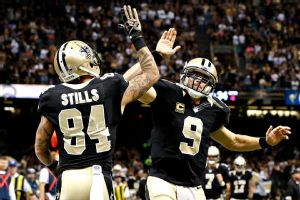 Kenny Stills and Drew Brees