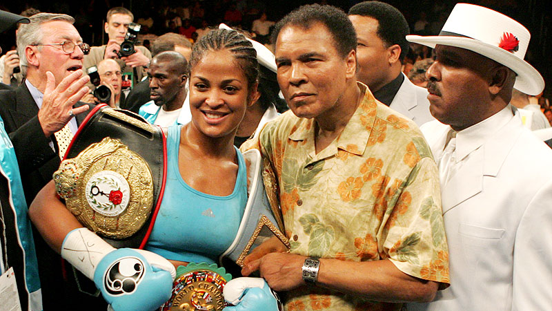Muhammad Ali and Laila Ali combined for an 80-5 record during the course of their professional careers.