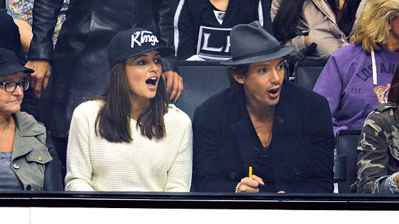 Actor Lukas Haas and friend.