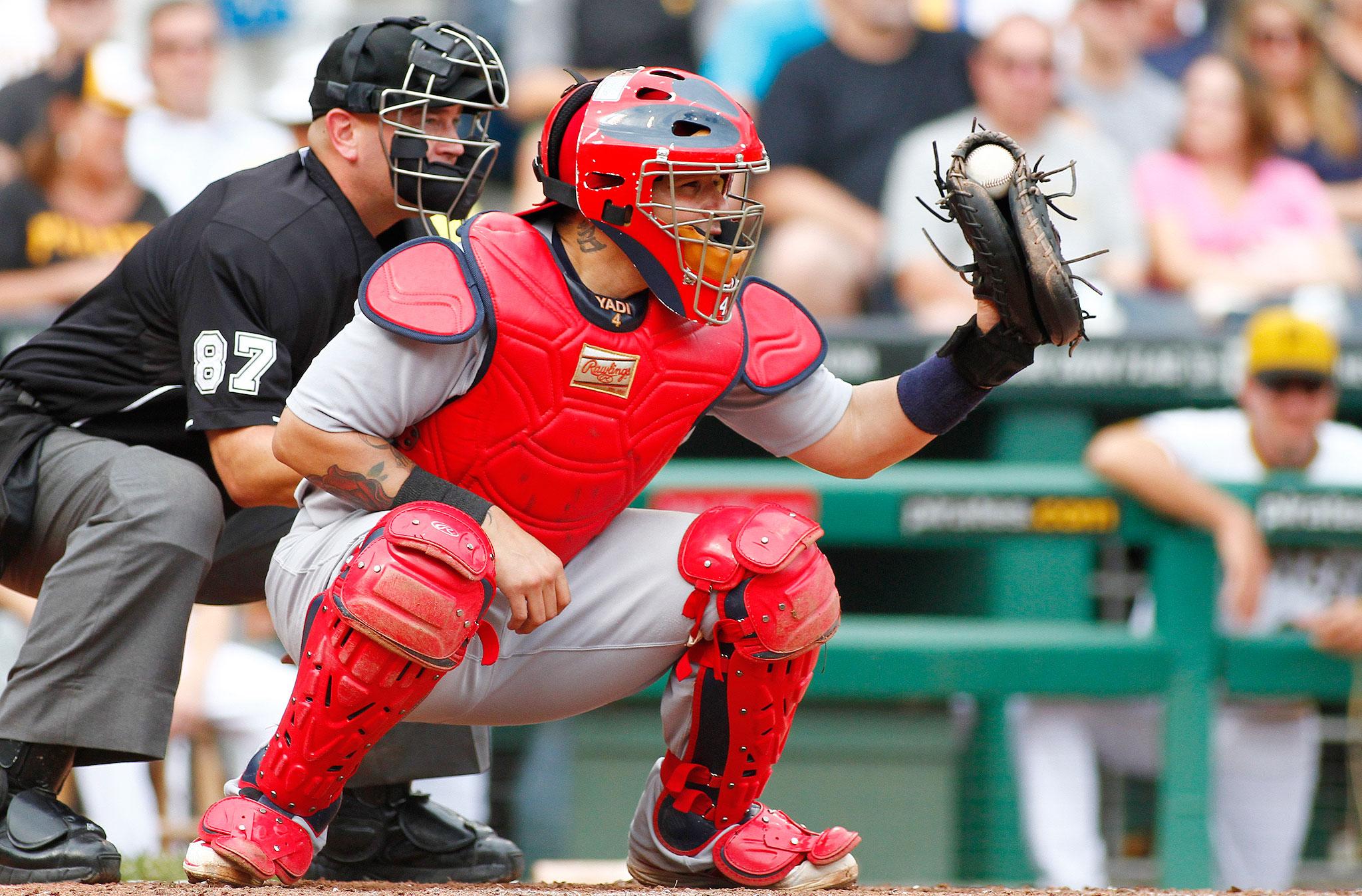 Yadier Molina Catching 2013 Catcher: Yadier Molina...