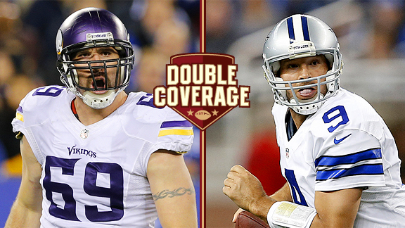 Jared Allen and Tony Romo