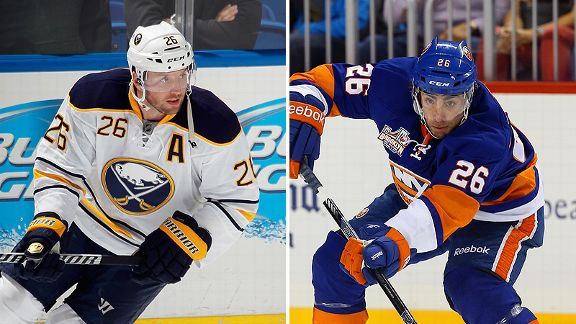Thomas Vanek and Matt Moulson