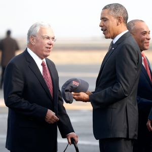 Thomas Menino and Barack Obama
