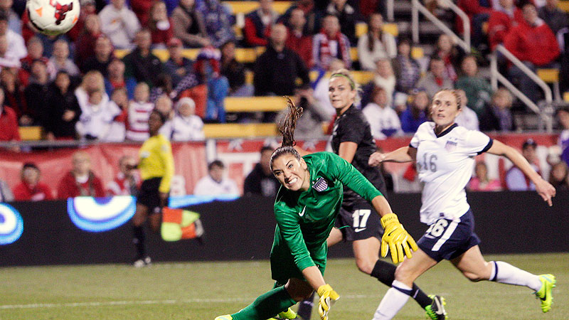 New Zealands Hannah Wilkinson broke free of American defender Rachel Beuhler and blasted a shot past Hope Solo in the 87th minute to give the Football Ferns their first draw against the U.S. in 26 years.