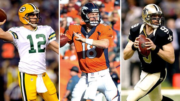 Rodgers, Manning, Brees