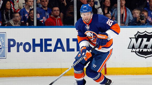 Thomas Vanek #26 of the New York Islanders