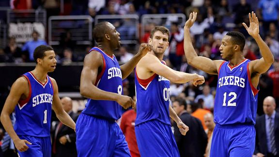 Michael Carter-Williams, James Anderson, Spencer Hawes, Evan Turner
