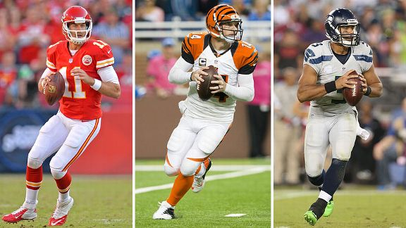 Alex Smith, Andy Dalton and Russell Wilson