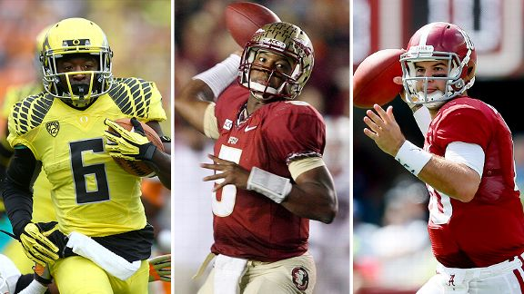 De'Anthony Thomas, Jameis Winston and AJ McCarron