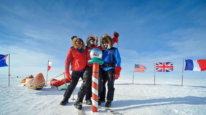 Grant Korgan in Antarctica, one of two adaptive athletes to reach the South Pole.