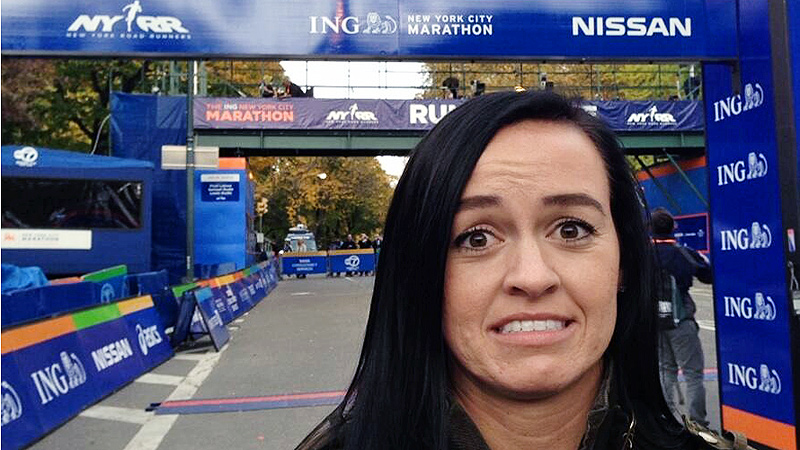 Ashley Freiberg realized that the New York City Marathon was about being brave and pushing through pain.