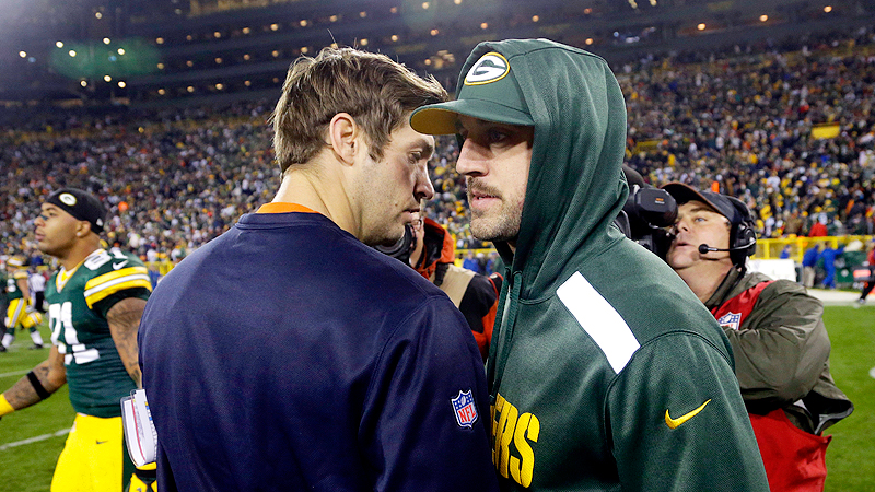 Jay Cutler and Aaron Rodgers dont bring as much excitement to the Bears-Packers rivalry when theyre wearing street clothes.