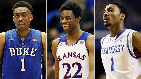 Andrew Wiggins, Jabari Parker, James Young