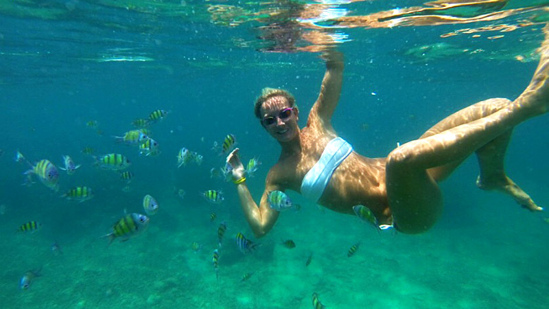 Jessica Hardy spent lots of time in the water during her honeymoon in Phuket, Thailand -- sometimes up to six hours a day.