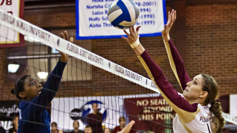 Florida State had 28 blocks in five sets against North Carolina, a team record.