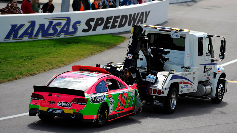 It doesnt get much worse than this: Danica Patrick lost control of her car on the very first lap at Kansas in October, crashing and finishing 43rd -- dead last.