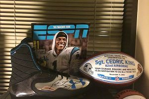 Cedric King's Panthers shrine
