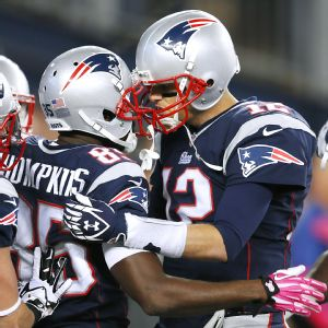 Kenbrell Thompkins and Tom Brady