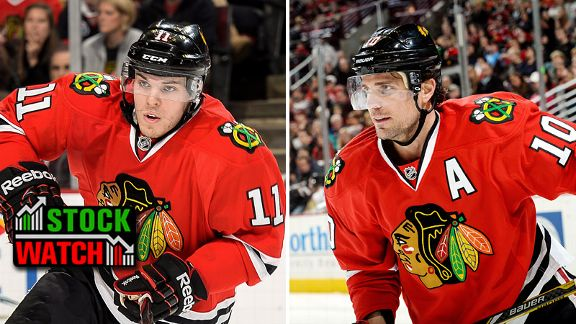 Patrick Sharp and Jeremy Morin