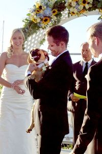 Jessica Hardy married fellow swimmer Dominik Meichtry on Oct. 5. Their dog, Duke, served as reluctant ring bearer.