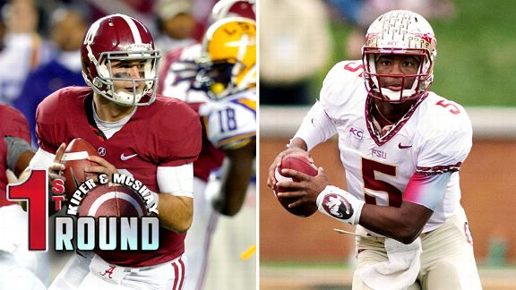 AJ McCarron and Jameis Winston