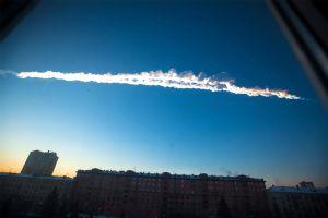 Meteorite contrail