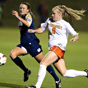 The Cavaliers have a deep lineup, including sophomore striker Makenzy Doniak.