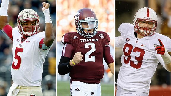 Jameis Winston, Johnny Manziel and Trent Murphy