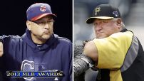 Francona, Hurdle honored as top managers