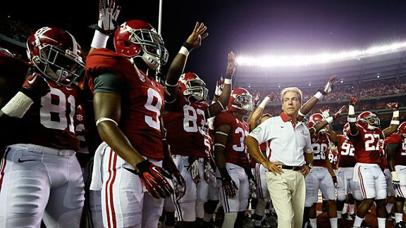 Head coach Nick Saban of the Alabama Crimson Tide