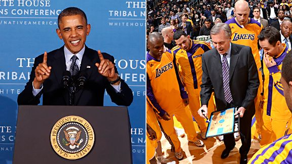 Barack Obama and Los Angeles Lakers