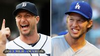 Kershaw, Scherzer collect Cy Young Awards