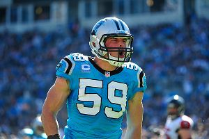 Luke Kuechly #59 of the Carolina Panthers